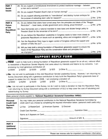 Republican Survey Page 3